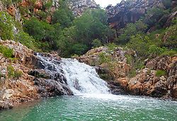 A small waterfall in Talbot Bay on the Kimberley coast.