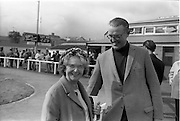 19/09/1967<br /> 09/19/1967<br /> 19 September 1967<br /> Goffs September Sales at Ballsbridge, Dublin. Picture shows Mrs M.A. Robinson, Clarehaven Lodge, Newmarket, England, with Lord Harrington, Patrickswell, Limerick.