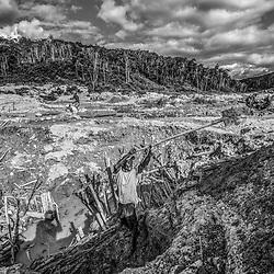 Fea0093883. DT News.Tananarive a mining village near AMBATONDRAZAKA,The Ankeniheny-Zahamena Corridor, Madagascar.Pic Shows miners from all over Madagascar looking for sapphires in the village of Tananarive