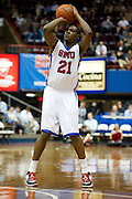 Jalen Jones #21 of the SMU Mustangs shoots the ball against the Memphis Tigers at Moody Coliseum on Wednesday, February 6, 2013 in University Park, Texas. (Cooper Neill/The Dallas Morning News)