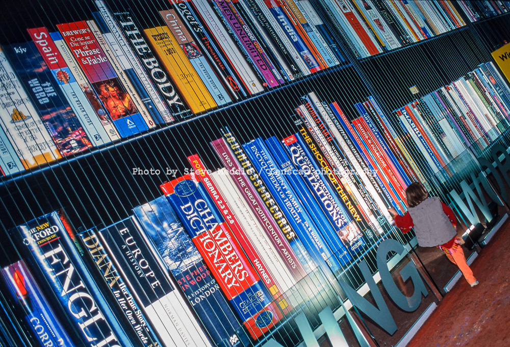 Giant Bookcase inside the Millennium Dome, Greenwich, London, England - 27 November 2000