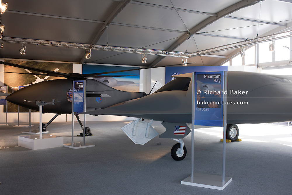 Boeing's UAS at the US company's chalet Farnborough Airshow.