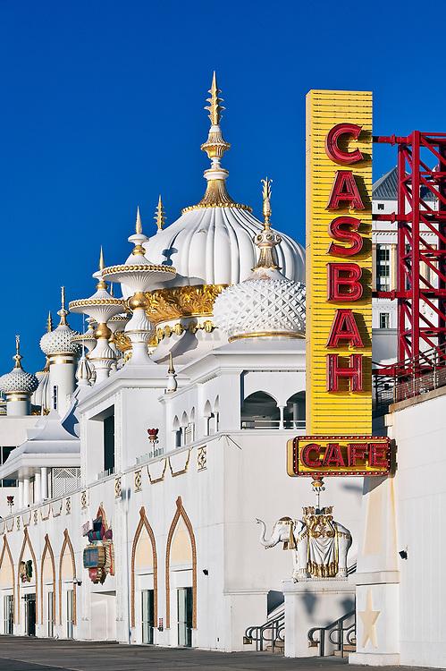 Exterior of Trump Taj Mahal casino, Atlantic City, New Jersey, USA