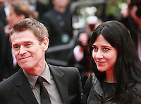 Willem Dafoe and Giada Colagrande at Jimmy's Hall gala screening red carpet at the 67th Cannes Film Festival France. Thursday 22nd May 2014 in Cannes Film Festival, France.