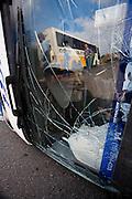 Nepomuceno_MG, Brasil...Detalhe do caminhao que sofreu acidente na rodovia Fernao Dias...Detail of truck that had an accident on the Fernao Dias highway...Foto: LEO DRUMOND / NITRO