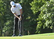 ST. LOUIS, MO - AUGUST 09: Rory McIlroy putts on the #10 green during the first round of the PGA Championship on August 09, 2018, at Bellerive Country Club, St. Louis, MO.  (Photo by Keith Gillett/Icon Sportswire)