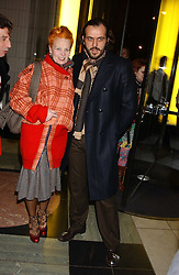 Top British fashion designer VIVIENNE WESTWOOD and her husband MR ANDREAS KRONTHALER at a reception to celebrate the opening of Anna Piaggi Fashion-ology and Popaganda: The Fashion and Style of JC de Castelbajac at the V&A Museum, London on 31st January 2006.<br /><br />NON EXCLUSIVE - WORLD RIGHTS