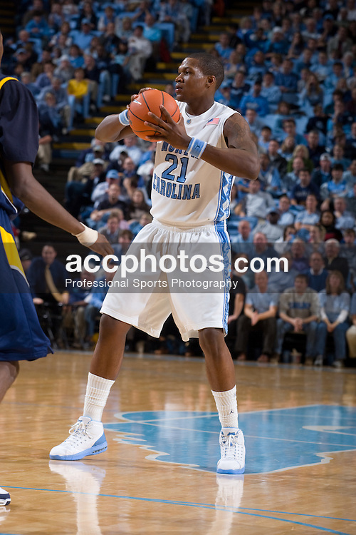 02 January 2008: North Carolina Tar Heels forward Deon Thompson (21) during a 90-61 win over the Kent State Golden Flashes at the Dean Smith Center in Chapel Hill, NC.