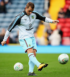 Chris Wood of Burnley warms up - Mandatory by-line: Matt McNulty/JMP - 23/08/2017 - FOOTBALL - Ewood Park - Blackburn, England - Blackburn Rovers v Burnley - Carabao Cup - Second Round