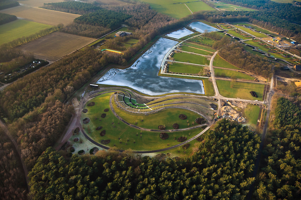 Nederland, Provincie, Plaats, 10-01-2011;.Floriade terrrein (zie eerdr foto's).luchtfoto (toeslag), aerial photo (additional fee required).foto/photo Siebe Swart