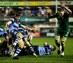 Lloyd Williams of Cardiff Blues clears <br /> <br /> Photographer Simon King/Replay Images<br /> <br /> Guinness PRO14 Round 14 - Cardiff Blues v Connacht - Saturday 26th January 2019 - Cardiff Arms Park - Cardiff<br /> <br /> World Copyright © Replay Images . All rights reserved. info@replayimages.co.uk - http://replayimages.co.uk