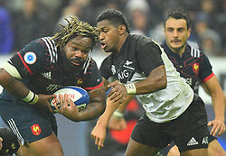 France 's Mathieu Bastareaud during a rugby union international match at Stade de France stadium in Saint Denis, outside Paris, France, Saturday, Nov. 11, 2017Photo by Christian<br /> Liewig/ABACAPRESS.COM