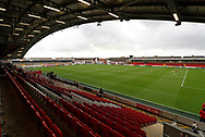 View of Highbury Stadium during the EFL Sky Bet League 1 match between Fleetwood Town and Blackpool at the Highbury Stadium, Fleetwood, England on 25 November 2017. Photo by Paul Thompson.