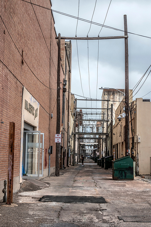 An alley in Brownsville, Texas, USA