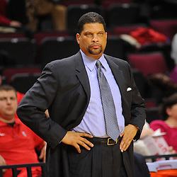 Head coach Eddie Jordan of the Rutgers Scarlet Knights looks on from the bench during the second half of Rutgers men's basketball vs Temple Owls in American Athletic Conference play on Jan. 1, 2014 at Rutgers Louis Brown Athletic Center in Piscataway, New Jersey.