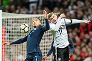 England (7) Jake Livermore, Germany (11) Werner during the Friendly match between England and Germany at Wembley Stadium, London, England on 10 November 2017. Photo by Sebastian Frej.