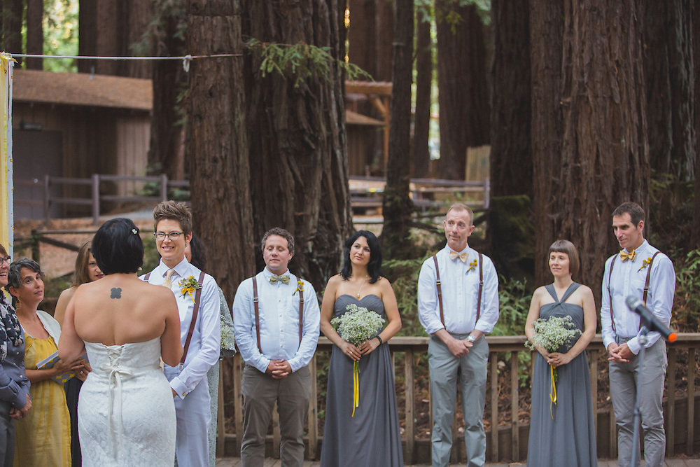 Sarah and Cyndi tie the knot in the perfect setting for a wedding at Camp Harmon.