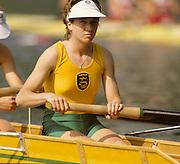 Bled, Slovenia, YUGOSLAVIA. AUS LW4-, Gini SKINNER. ? 1989 World Rowing Championships, Lake Bled. [Mandatory Credit. Peter Spurrier/Intersport Images]