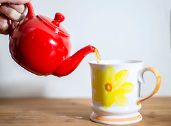"""File photo dated 29/03/16 of a cup of tea being poured. Sainsbury's wants to safeguard the future of the """"Great British cuppa"""" and offer a better deal for growers by launching its own brand of ethically-sourced tea."""