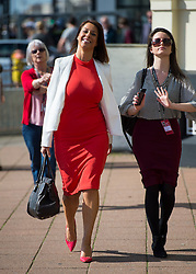 © Licensed to London News Pictures. 27/09/2015. Brighton, UK. GLORIA DEL PIERO MP (left) arriving on Day one of the 2015 Labour Party Conference, held at the Brighton Centre in Brighton, East Sussex. This years conference takes place just weeks after Jeremy Corbyn was elected leader of the party. Photo credit: Ben Cawthra/LNP