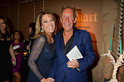 VISCOUNT & VISCOUNTESS DAVENTRY at the PAD London 2015 VIP evening held in the PAD Pavilion, Berkeley Square, London on 12th October 2015.