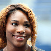 Serena Williams during a press conference after the 2013 US Open draw ceremony. Flushing. New York, USA. 22nd August 2013. Photo Tim Clayton