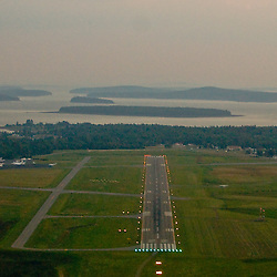 Aerial view of the Bar Harbor Acadia National Park Area of Maine