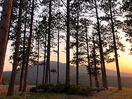 Crow Peak at Sunset