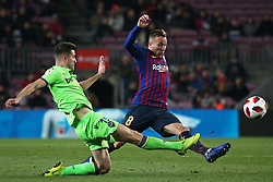 January 17, 2019 - Barcelona, Catalonia, Spain - Arthur and Postigo during the match between FC Barcelona and Levante UD, corresponding to the 1/8 final of the spanish cup, played at the Camp Nou Stadium, on 17th January 2019, in Barcelona, Spain. (Credit Image: © Joan Valls/NurPhoto via ZUMA Press)