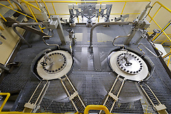 Part of the safety system in the nuclear reactor chamber, at the RWE nuclear power plant, in Lingen, Germany, on Tuesday, Sept. 6, 2011. (Photo © Jock Fistick)