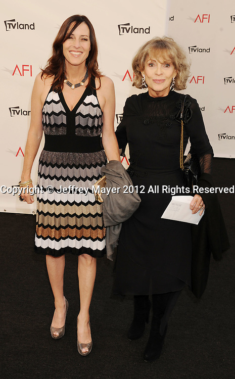 LOS ANGELES, CA - JUNE 07: Cecilia Peck and Veronique Peck arrive at the 40th AFI Life Achievement Award honoring Shirley MacLaine at Sony Pictures Studios on June 7, 2012 in Los Angeles, California.