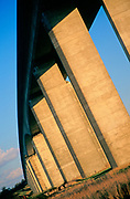 A753W6 Orwell bridge concrete support columns Suffolk England