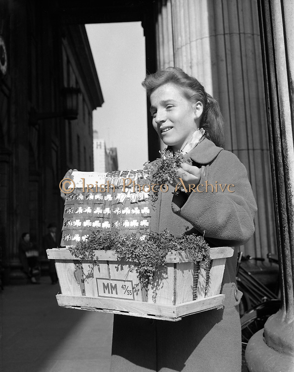 Anyone for a badge or spray of shamrock?.17.03.1961