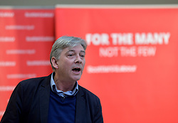 Pictured: Richard Leonard speaks at the lunch.<br /> <br /> Labour leader Jeremy Corbyn travelled to Scotland to attend a festive lunch for homeless charities and volunteers in Edinburgh on Sunday, along with Scottish Labour leader Richard Leonard.<br /> <br /> © Dave Johnston / EEm