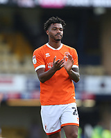 Blackpool's Joe Nuttall applauds the Blackpool fans at the end of the game<br /> <br /> Photographer Rob Newell/CameraSport<br /> <br /> The EFL Sky Bet Championship - Southend United v Blackpool - Saturday 10th August 2019 - Roots Hall - Southend<br /> <br /> World Copyright © 2019 CameraSport. All rights reserved. 43 Linden Ave. Countesthorpe. Leicester. England. LE8 5PG - Tel: +44 (0) 116 277 4147 - admin@camerasport.com - www.camerasport.com
