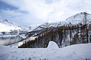 Tignes, France, Ski resort snowscape
