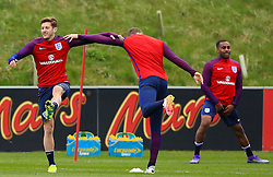 England's Adam Lallana (Liverpool) warms up with his team mates - Mandatory byline: Matt McNulty/JMP - 22/03/2016 - FOOTBALL - St George's Park - Burton Upon Trent, England - Germany v England - International Friendly - England Training and Press Conference