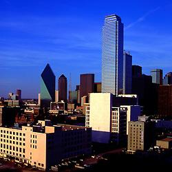 Aerial view of  Dallas Texas Skyline