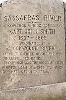 Historic Marker, Sassafras River Bridge, Chesapeake Bay, Georgetown, Maryland, United States of America, North America.
