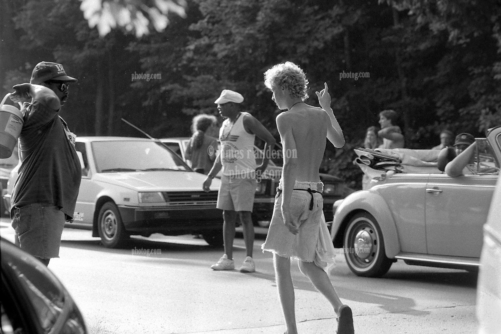 Looking for A Miracle Outside the Venue before the Grateful Dead Concert at Pine Knob Music Theatre, Clarkston, MI on 19 June 1991