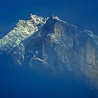 Mount Khum Bui Yul Lha, a sacred mountin to the Sherpas in the Khumbu region of Nepal's Himalaya.