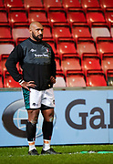 Leicester Tigers wing Nemani Nadolo before the Gallagher Premiership Round 7 Rugby Union match, Friday, Jan. 29, 2021, in Leicester, United Kingdom. (Steve Flynn/Image of Sport)