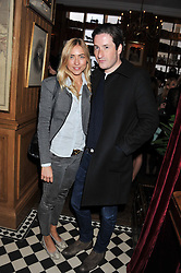BLAISE PATRICK and ALINA KOHLEM at a party to celebrate the launch Mr Fogg's, 15 Bruton Lane, London W1 on 21st May 2013.