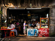 22 DECEMBER 2018 - CHANTABURI, THAILAND: A noodle soup shop in Chantaburi. Chantaburi is the capital city of Chantaburi province on the Chantaburi River. Because of its relatively well preserved tradition architecture and internationally famous gem market, Chantaburi is a popular weekend destination for Thai tourists.         PHOTO BY JACK KURTZ