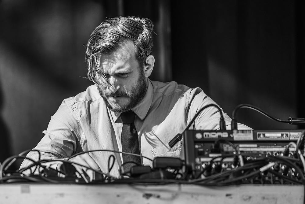 Jan Brauer of German techno-project Brandt Brauer Frick at Haldern Pop Festival