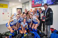 ROTTERDAM -  dames Kampong plaatst zich  plaatst zich voor halve finales NK  ,hoofdklasse competitie  zaalhockey.   COPYRIGHT  KOEN SUYK