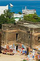 Tanzanie, archipel de Zanzibar, ile de Unguja (Zanzibar), ville de Zanzibar, quartier Stone Town classe patrimoine mondial UNESCO, ancien fort Arabe // Tanzania, Zanzibar island, Unguja, Stone Town, unesco world heritage, old Arab fort