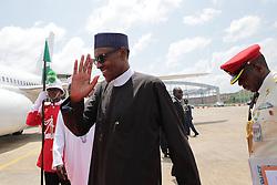 October 13, 2016 - Abuja, Nigeria - Nigeria's president Muhammadu Buhari leaves for Germany at the NNamdi Azikiwe International airport, Abuja, Nigeria  October 13, 2016  (Credit Image: © Next24online/NurPhoto via ZUMA Press)