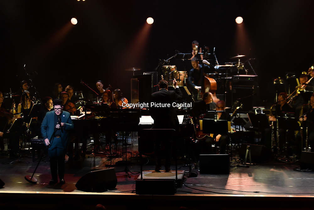 Lea DeLaria is an American comedian, actress, and jazz musician preforms at Jazz Voice - Festival opening gala at Royal Festival Hall on 16 Nov 2018, London, UK.