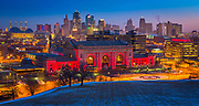 Kansas City (often referred to as K.C.) is the most populous city in the U.S. state of Missouri. In 2010, it had a population of 459,787, which had risen to an estimated 467,007 in 2013.<br /> <br /> The Kansas City metropolitan area, the second largest in Missouri after St. Louis spans the Kansas–Missouri border. On the western border of Missouri, with downtown near the confluence of the Kansas and Missouri rivers, Kansas City encompasses 316 square miles in Jackson, Clay, Cass, and Plattecounties. It is one of two county seats of Jackson County, along with Independence.<br /> <br /> Founded in the 1830s as a port on the Missouri River, Kansas City experienced clashes over slavery in the Border War which preceded the American Civil War and in that war itself, including the Battle of Westport.